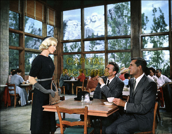 EVA MARIE SAINT, JAMES MASON & CARY GRANT.in North by Northwest (1959) .*Filmstill - Editorial Use Only*.CAP/STF/PEL.Supplied by Capital Pictures.