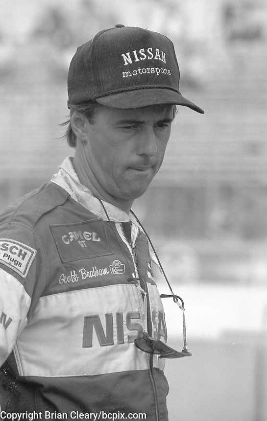 Geoff Brabham at  the IMSA GTP/Lights race at the Florida State Fairgrounds in Tampa, FL, October 1, 1989. (Photo by Brian Cleary/www.bcpix.com)