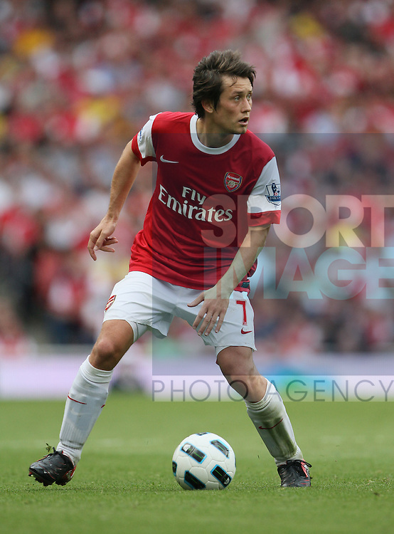 Arsenal's Tomas Rosicky in action