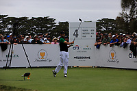 Abraham Ancer (International) on the 4th tee during the Second Round - Foursomes of the Presidents Cup 2019, Royal Melbourne Golf Club, Melbourne, Victoria, Australia. 13/12/2019.<br /> Picture Thos Caffrey / Golffile.ie<br /> <br /> All photo usage must carry mandatory copyright credit (© Golffile | Thos Caffrey)