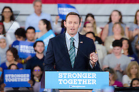 U.S. Representative Patrick Murphy speaks at Hillary Clinton Miami Rally in Miami, FL on October 11, 2016