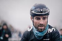 Alejandro Valverde's (ESP/Movistar) post-race face<br /> <br /> 73rd Dwars Door Vlaanderen 2018 (1.UWT)<br /> Roeselare - Waregem (BEL): 180km