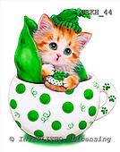 Kayomi, CUTE ANIMALS, paintings, CupKittyPeapod_M, USKH44,#AC# stickers illustrations, pinturas ,everyday