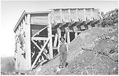 Side view of RGS Ute Junction coal chute.<br /> RGS  Ute Junction, CO