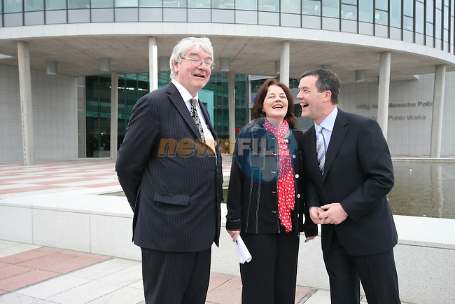 Dr.Martin Mansergh, OPW Chairperson Clare McGrath and  Minister Noel Dempsey at the Opening of the new OPW Offices in Trim...Photo NEWSFILE/Jenny Matthews.(Photo credit should read Jenny Matthews/NEWSFILE)....This Picture has been sent you under the condtions enclosed by:.Newsfile Ltd..The Studio,.Millmount Abbey,.Drogheda,.Co Meath..Ireland..Tel: +353(0)41-9871240.Fax: +353(0)41-9871260.GSM: +353(0)86-2500958.email: pictures@newsfile.ie.www.newsfile.ie.FTP: 193.120.102.198.