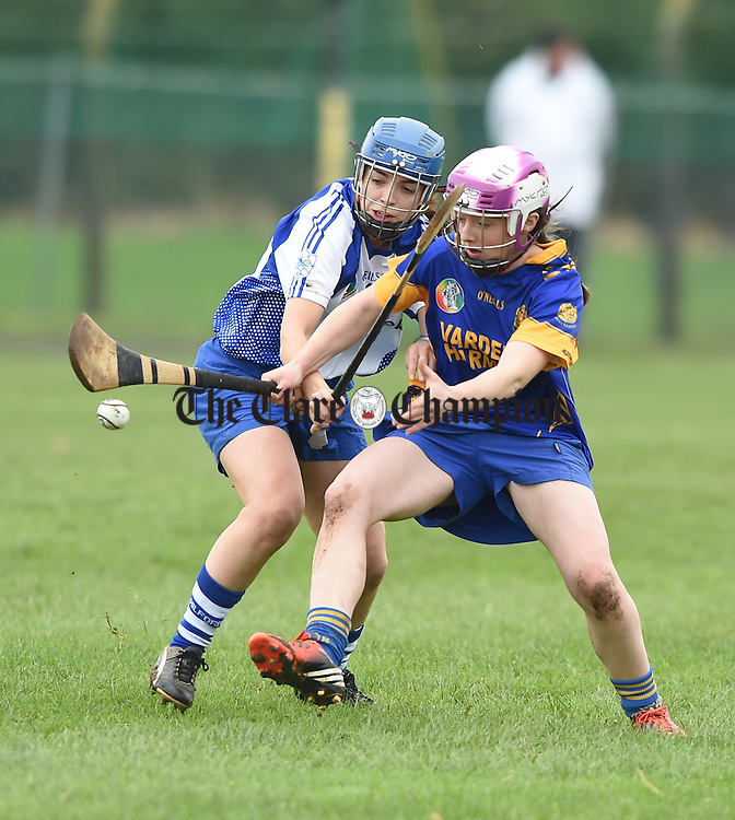 Lisa Healy of Milford in action against Ann Marie Hayes of Newmarket on Fergus during the Munster senior club final in Ballyagran. Photograph by John Kelly.