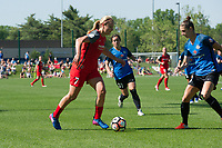 Kansas City, MO - Saturday May 13, 2017:  Lindsey Horan, Yael Averbuch, Christina Gibbons during a regular season National Women's Soccer League (NWSL) match between FC Kansas City and the Portland Thorns FC at Children's Mercy Victory Field.