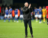 Lincoln City manager Michael Appleton applauds the Lincoln fans after Ipswich Town vs Lincoln City, Emirates FA Cup Football at Portman Road on 9th November 2019