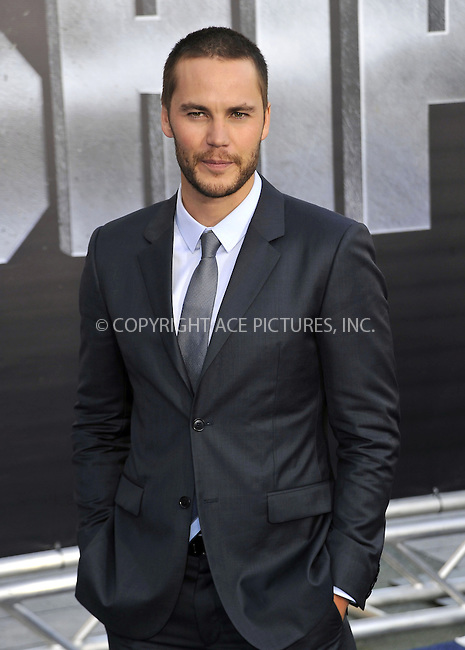 WWW.ACEPIXS.COM . . . . .  ....May 10 2012, LA....Taylor Kitsch arriving at the premiere of 'Battleship' at the NOKIA Theatre on May 10 2012 in LA. ....Please byline: PETER WEST - ACE PICTURES.... *** ***..Ace Pictures, Inc:  ..Philip Vaughan (212) 243-8787 or (646) 769 0430..e-mail: info@acepixs.com..web: http://www.acepixs.com
