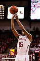 December 3, 2012: Ray Gallegos (15) of the Nebraska Cornhuskers with a three point shot against the USC Trojans at the Devaney Sports Center in Lincoln, Nebraska. Nebraska defeated USC 63 to 51.