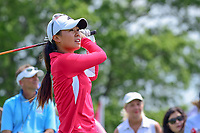 Danielle Kang (USA) watches her tee shot on 10 during Wednesday's preview of the 72nd U.S. Women's Open Championship, at Trump National Golf Club, Bedminster, New Jersey. 7/12/2017.<br /> Picture: Golffile | Ken Murray<br /> <br /> <br /> All photo usage must carry mandatory copyright credit (&copy; Golffile | Ken Murray)