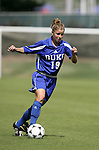 Rebecca Moros of Duke on Sunday October 2nd, 2005 at SAS Stadium in Cary, North Carolina. The Duke University Blue Devils defeated the North Carolina State University Wolfpack 1-0 during an Atlantic Coast Conference women's soccer game.