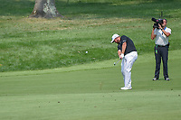 Shane Lowry (IRL) hits his approach shot on 9 during 4th round of the 100th PGA Championship at Bellerive Country Club, St. Louis, Missouri. 8/12/2018.<br /> Picture: Golffile | Ken Murray<br /> <br /> All photo usage must carry mandatory copyright credit (&copy; Golffile | Ken Murray)
