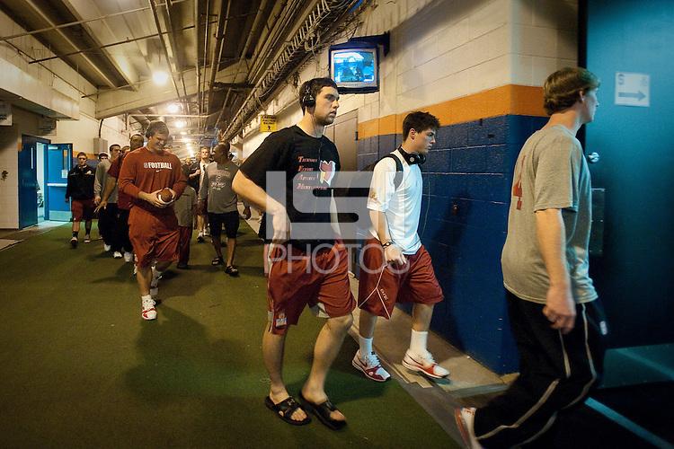 MIAMI GARDENS, FL--Andrew Luck arrives for the Stanford Cardinal Team Photo, Orange Bowl 2011, Sun Life Stadium in Miami Gardens, Florida.