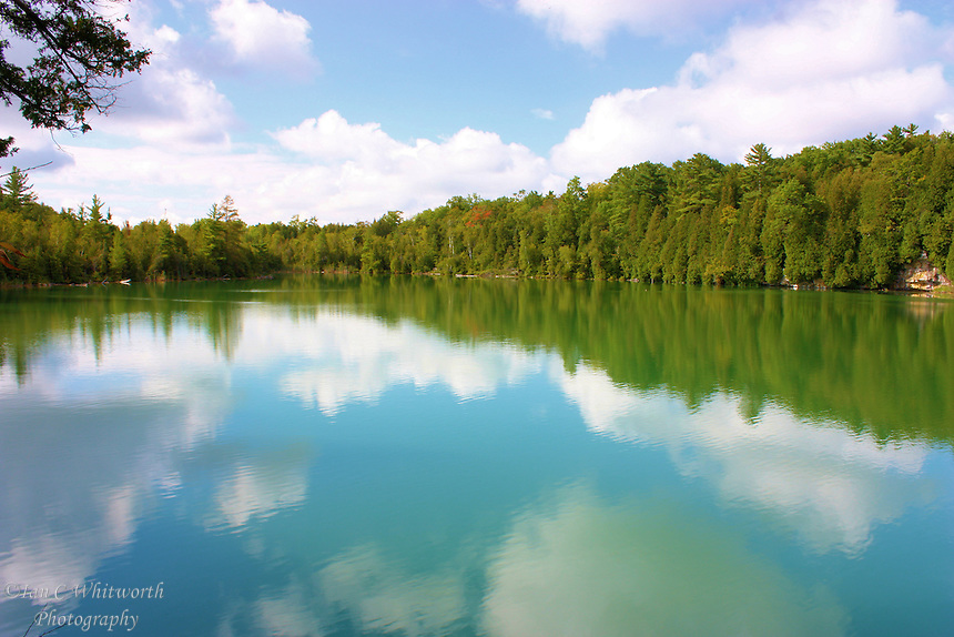 A view of Crawford Lake in Ontario