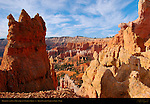 Hoodoos and Fin at top of Queen's Garden Trail, Bryce Canyon National Park, Utah