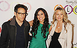 WEST HOLLYWOOD, CA - NOVEMBER 14: Ben Stiller, Kimberly Snyder and Christine Taylor-Stiller attend the opening of Kimberly Snyder's Glow Bio Juice Bar at Glow Bio on November 14, 2012 in West Hollywood, California.
