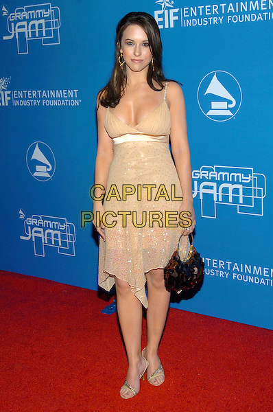 LACEY CHABERT.2004  Grammy Jam Celebration of the music of Earth, Wind and Fire held at the Wiltern LG Theatre, Los Angeles, California , USA, 11th December 2004 .full length beige gold sparkly dress.Ref: ADM.www.capitalpictures.com.sales@capitalpictures.com.©Laura Farr/AdMedia/Capital Pictures .