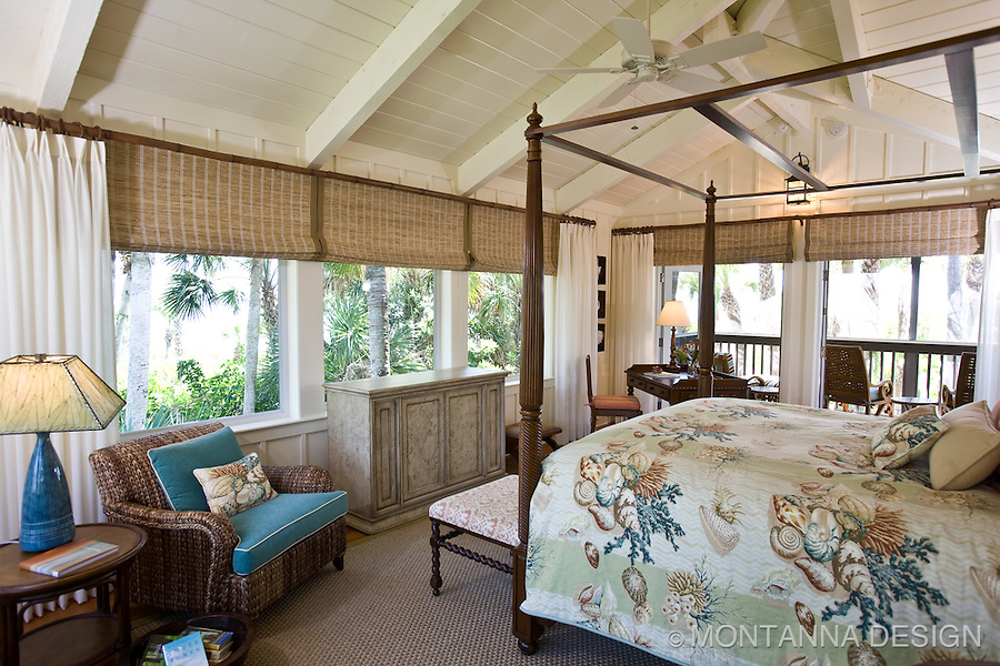 British colonial style goes coastal casual for an open and airy beach guest house