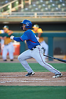 AZL Rangers Alexander Ovalles (10) at bat during an Arizona League game against the AZL Athletics Gold on July 15, 2019 at Hohokam Stadium in Mesa, Arizona. The AZL Athletics Gold defeated the AZL Rangers 9-8 in 11 innings. (Zachary Lucy/Four Seam Images)