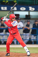 24 September 2009: Michel Enriquez of Cuba is seen at bat during the 2009 Baseball World Cup final round match won 5-3 by Team USA over Cuba, in Nettuno, Italy.