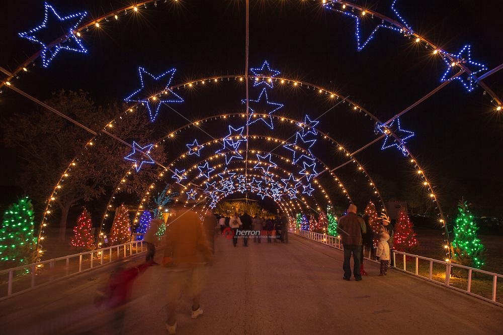 Zilker Park Trail of Lights Starry Night Tunnel