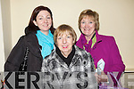 Enjoying the Rebecca Storm concert last Friday night in the Church of the Assumption, Abbeyfeale was the Kelly sisters from Newcastlewest, Margaret, Kathleen and Maureen.