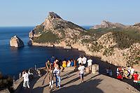 Spain, Mallorca, near Port de Pollenca (Puerto Pollensa); view over Cap de Formentor from Mirador es Colomer and Punta Nau | Spanien, Mallorca, bei Port de Pollenca (Puerto Pollensa): Blick zum Cap de Formentor vom Aussichtspunkt Mirador es Colomer und Punta Nau
