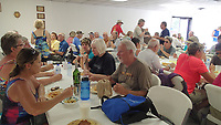 Meals are fundraisers for groups in some cities. This spaghetti dinner was a fundraiser for the Hokah, Minn. fire department.