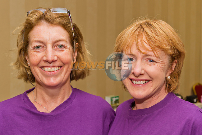 Adrienne Gallen and Elaine Egleston at the Bring and Buy in the Westcourt..Picture: Shane Maguire / www.newsfile.ie.