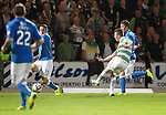 St Johnstone v Celtic...13.08.14  SPFL<br /> Callum McGregor scores Celtic's third goal<br /> Picture by Graeme Hart.<br /> Copyright Perthshire Picture Agency<br /> Tel: 01738 623350  Mobile: 07990 594431