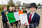 Padraig Pearse (Ella Kehoe) read the proclamation and raised the tricolour to celebrate 1916 on Tuesday l-r: Evan O'Sullivan, Rebecca O'Sullivan, Timothy McClain, Saoirse Sweeney, Kate Sheahan and Donagh Fahy