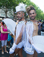 Gay Pride Parade Madrid 2014 from Atocha square to Colon Square in Madrid on July 5, 2014. Photo by Eduardo Dieguez/ DyD Fotografos-DYDPPA