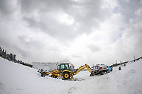 JERSEY CITY, NJ, 15.03.2017 - NEVASCA-ESTADOS UNIDOS - Grande quantidade de neve pode ser vista um dia após a tempestade Stella na região do Liberty State Park na cidade de Jersey City que fica em frente a Manhattan nesta quarta-feira, 15 . (Foto: William Volcov/Brazil Photo Press)
