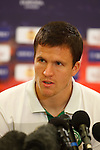 Gary Caldwell at Celtic's Europa League press conference in Tel Aviv
