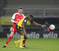 Fleetwood Town's Ashley Eastham in action with Burton Albion's Lucas Atkins<br /> <br /> Photographer Mick Walker/CameraSport<br /> <br /> The EFL Sky Bet League One - Burton Albion v Fleetwood Town - Saturday 11th January 2020 - Pirelli Stadium - Burton upon Trent<br /> <br /> World Copyright © 2020 CameraSport. All rights reserved. 43 Linden Ave. Countesthorpe. Leicester. England. LE8 5PG - Tel: +44 (0) 116 277 4147 - admin@camerasport.com - www.camerasport.com