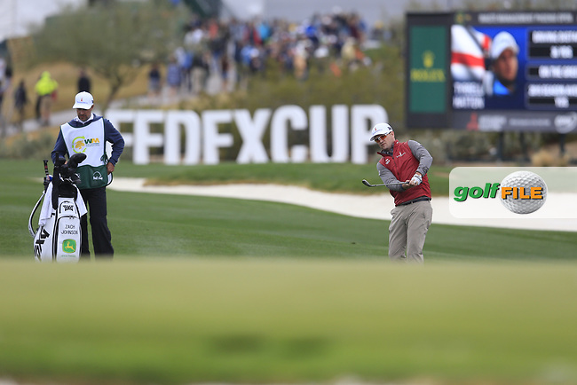 Zach Johnson (USA) on the 17th fairway during the final round of the Waste Management Phoenix Open, TPC Scottsdale, Scottsdale, Arisona, USA. 03/02/2019.<br /> Picture Fran Caffrey / Golffile.ie<br /> <br /> All photo usage must carry mandatory copyright credit (&copy; Golffile | Fran Caffrey)