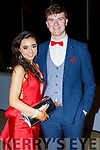 Kay Barry and Cathal McLoughlin attending the Gaelcholaiste Chiarrai Debs in the Ballyroe Heights Hotel on Saturday night.