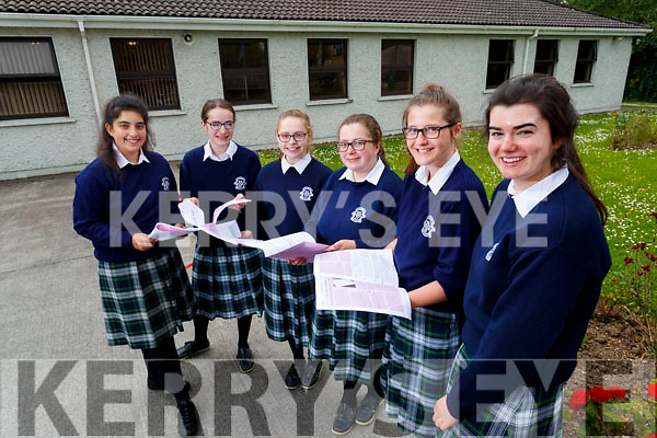 Andreea Gergely, Emma Carroll, Allanna Collins, Aine O'Sullivan, Emma Slattery and Isabel Horgan, Leaving Certificate students attending Presentation Secondary School, Tralee, pictured after completing English Paper 1 on Wednesday morning last.