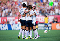 Sydney LerouxSydney Leroux, Abby Wambach, Carli Lloyd, Heather O'Reilly.  The USWNT defeated Brazil, 4-1, at an international friendly at the Florida Citrus Bowl in Orlando, FL.