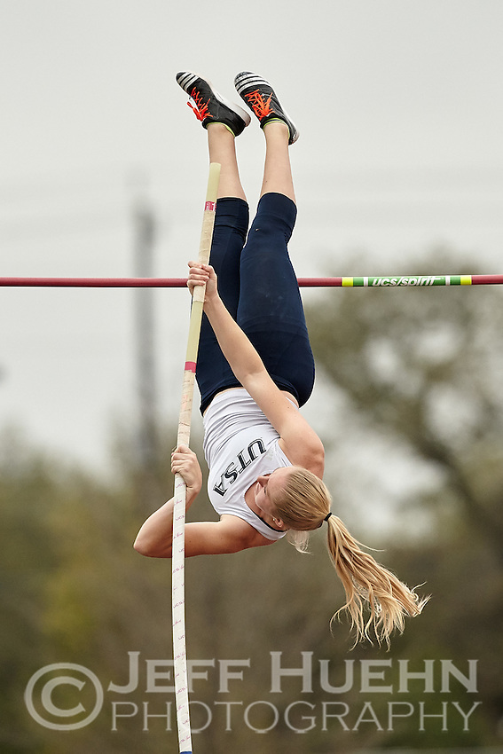 SAN ANTONIO, TX - MARCH 21, 2015: The University of Texas at San Antonio Roadrunners host the UTSA Challenge Invitational Track & Field Meet at the Park West Athletics Complex. (Photo by Jeff Huehn)