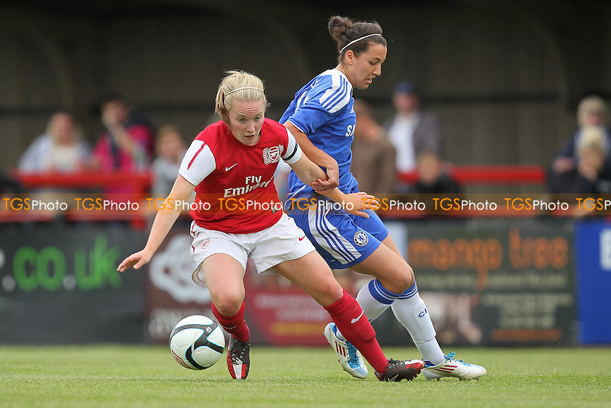 Kim Little of Arsenal turns away from Dania Susi of Chelsea - Arsenal Ladies vs Chelsea Ladies - FA Womens Super League Continental Cup Football at Boreham Wood FC - 10/06/12 - MANDATORY CREDIT: Gavin Ellis/TGSPHOTO - Self billing applies where appropriate - 0845 094 6026 - contact@tgsphoto.co.uk - NO UNPAID USE.