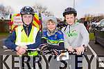 At the St Brendan's NS FENIT Coastal Cycle on Saturday were Darragh Hyne, Adam Doyle, Darragh O'Sullivan