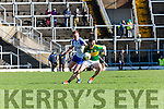 Kerry Killlian Young goes past Kieran Duffy Monaghan  during their NFL clash in Fitzgerald Stadium on Sunday