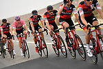 The peleton led by race leaders team BMC Racing Team during Stage 3 of the 101st edition of the Giro d'Italia 2018 running 229km flat stage from Be'er Sheva to Eilat is the last in Israel. 6th May 2018.<br /> Picture: LaPresse/Fabio Ferrari | Cyclefile<br /> <br /> <br /> All photos usage must carry mandatory copyright credit (&copy; Cyclefile | LaPresse/Fabio Ferrari)