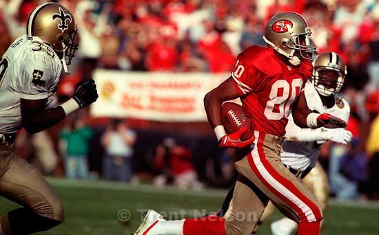 Jerry Rice. 49ers vs Saints.   &amp;#xA;<br />