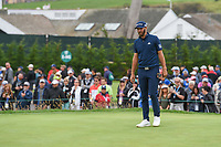 Dustin Johnson (USA) looks over his shot from the trap on 3 during round 4 of the 2019 US Open, Pebble Beach Golf Links, Monterrey, California, USA. 6/16/2019.<br /> Picture: Golffile | Ken Murray<br /> <br /> All photo usage must carry mandatory copyright credit (© Golffile | Ken Murray)