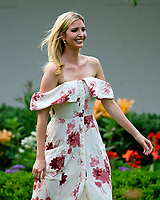 Assistant to the President Ivanka Trump walks through the Rose Garden at the annual Congressional Picnic on the South Lawn of the White House in Washington, DC on Thursday, June 22, 2017.<br /> Credit: Ron Sachs / CNP /MediaPunch