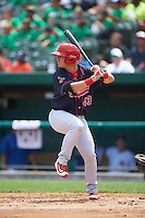 Peoria Chiefs second baseman Dylan Tice (43) at bat during the first game of a doubleheader against the South Bend Cubs on July 25, 2016 at Four Winds Field in South Bend, Indiana.  South Bend defeated Peoria 9-8.  (Mike Janes/Four Seam Images)