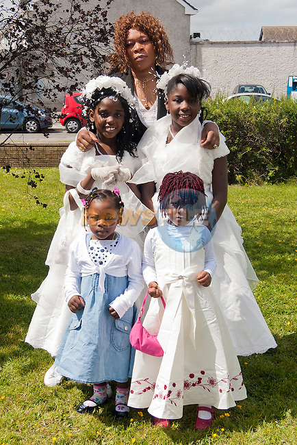 Joyce, Naomi, Alicia, Mayvay and Mary at the Communions in Grove Family Church..Picture: Shane Maguire / www.newsfile.ie.